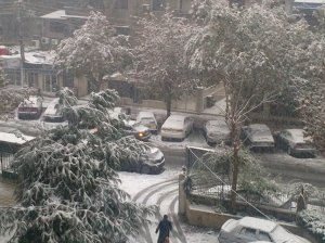Snow street, Damascus